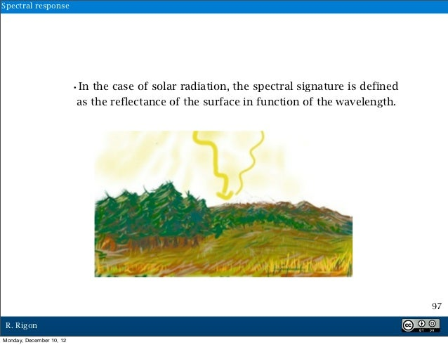 Spectral response                          •In the case of solar radiation, the spectral signature is defined             ...
