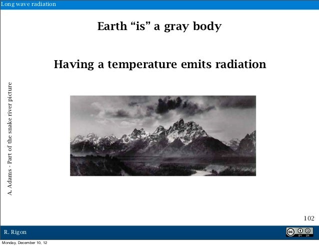 """Long wave radiation                                                      Earth """"is"""" a gray body                           ..."""