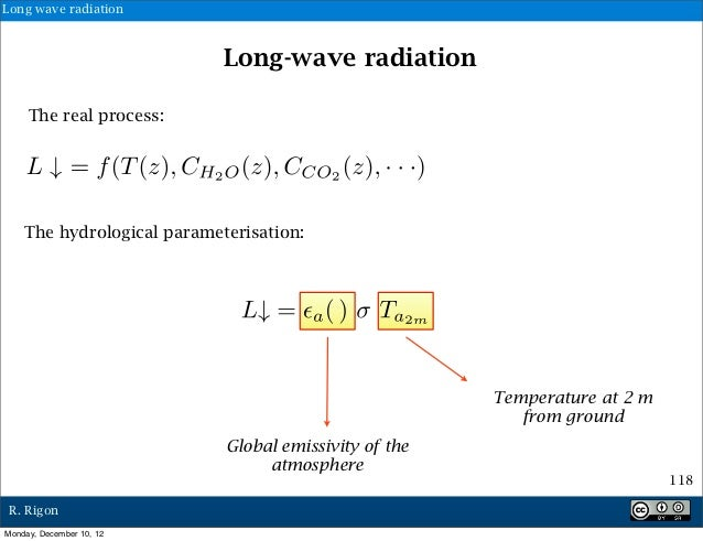 Long wave radiation                            Long-wave radiation     The real process:    The hydrological parameterisat...
