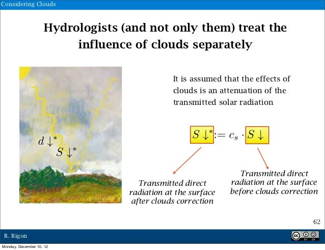 Considering Clouds                    Hydrologists (and not only them) treat the                         influence of clou...