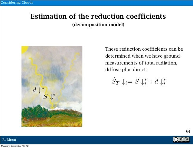 Considering Clouds                          Estimation of the reduction coefficients                                      ...