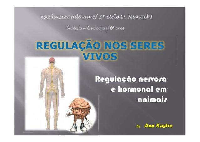 Regulação nos seres vivos - sistema nervoso e hormonal