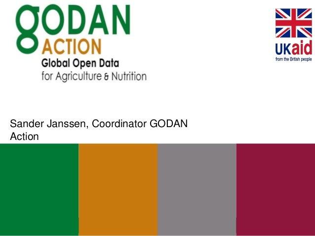 Sander Janssen, Coordinator GODAN Action