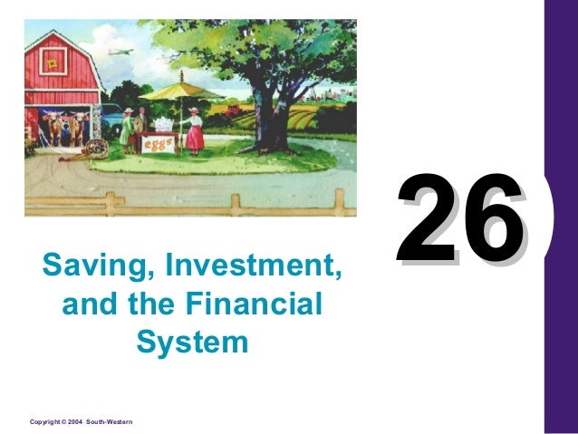 Saving, Investment, and the Financial System Copyright © 2004 South-Western  26