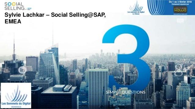 SocialSelling@SAPSylvie Lachkar – Social Selling@SAP, EMEA