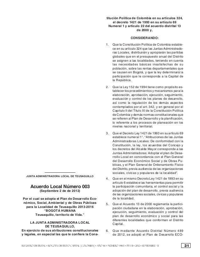 los niveles aquí señalados, para el cumplimiento de                   titución Política de Colombia en su artículos 324,la...