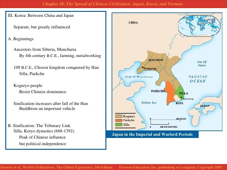 the spread of chinese civilization korea The spread of chinese civilization: korea, japan and vietnam introduction because of the remarkable durability of chinese civilization as well as its.