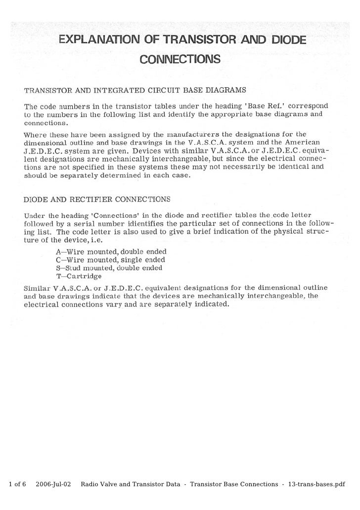 1 of 6   2006-Jul-02   Radio Valve and Transistor Data - Transistor Base Connections - 13-trans-bases.pdf