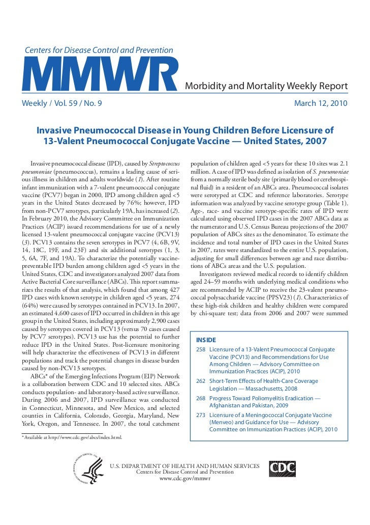 Morbidity and Mortality Weekly ReportWeekly / Vol. 59 / No. 9                                                             ...