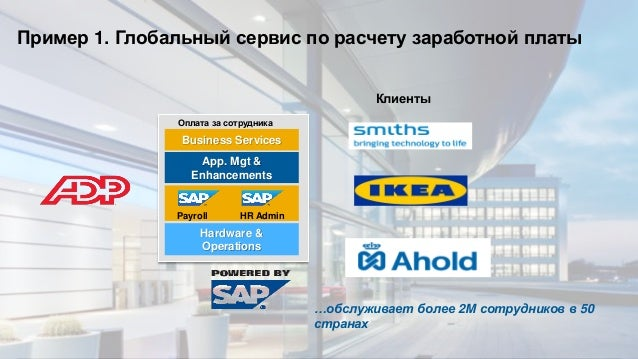 © 2013 SAP AG. All rights reserved. 22Public App. Mgt & Enhancements Hardware & Operations Business Services OpEx затраты ...