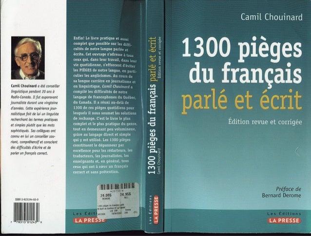 1300 Pièges du Français Parlé et Ecrit Gratuitement