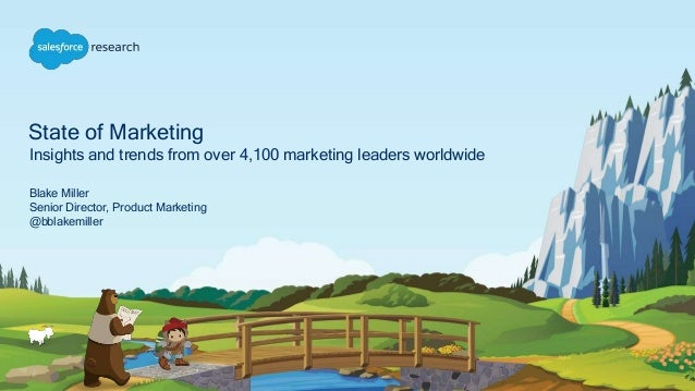 State of Marketing Insights and trends from over 4,100 marketing leaders worldwide Blake Miller Senior Director, Product M...