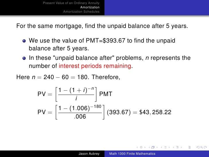 amortization mortgage formula