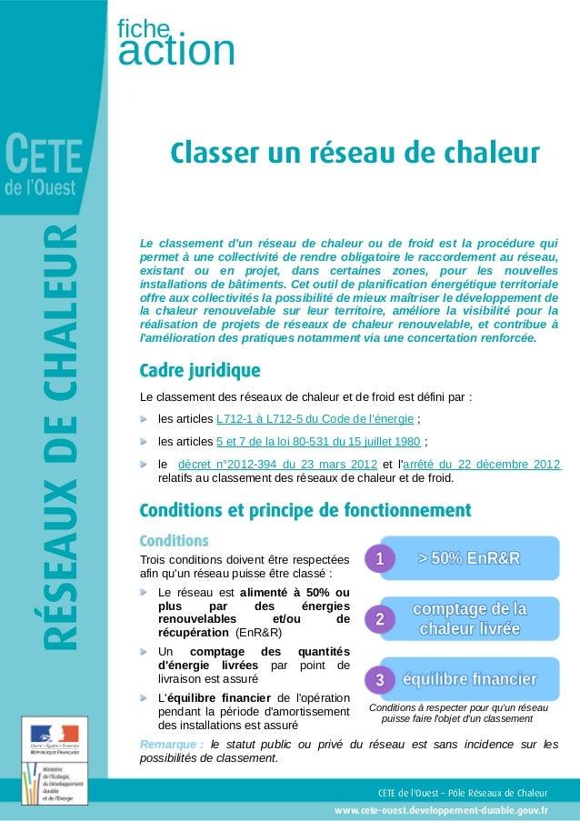 fiche                     action                            Classer un réseau de chaleurRÉSEAUX DE CHALEUR                ...