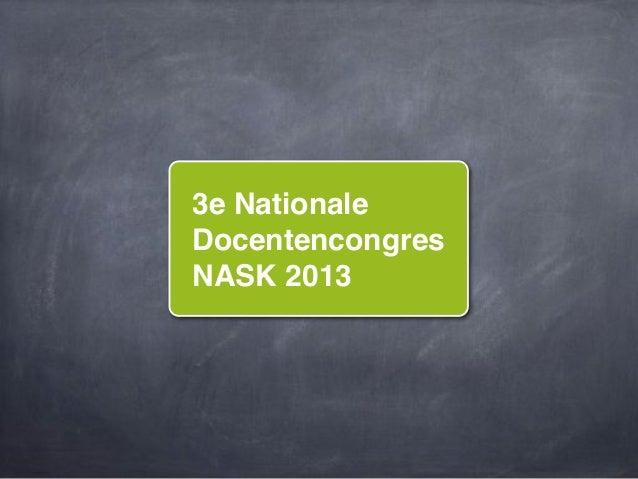 3e NationaleDocentencongresNASK 2013