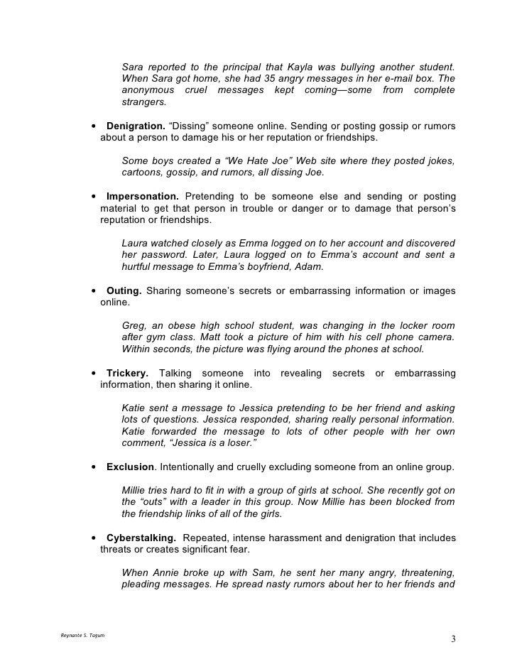 Cyber Bullying Research Paper | Cyberbullying | Bullying