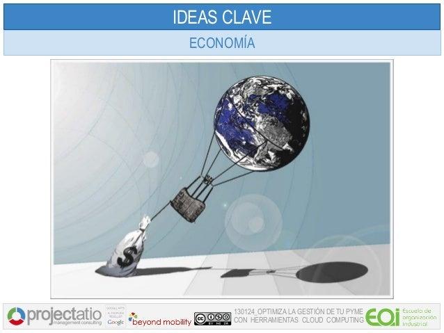 IDEAS CLAVE ECONOMÍA      130124_OPTIMIZA LA GESTIÓN DE TU PYME      CON HERRAMIENTAS CLOUD COMPUTING
