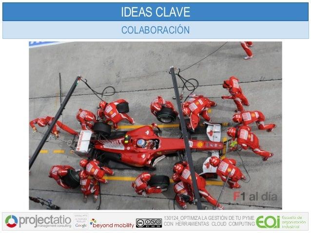 IDEAS CLAVECOLABORACIÓN       130124_OPTIMIZA LA GESTIÓN DE TU PYME       CON HERRAMIENTAS CLOUD COMPUTING