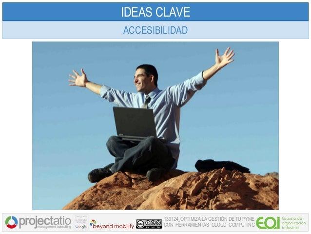 IDEAS CLAVEACCESIBILIDAD        130124_OPTIMIZA LA GESTIÓN DE TU PYME        CON HERRAMIENTAS CLOUD COMPUTING