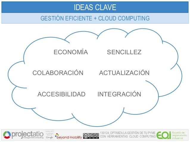 IDEAS CLAVE GESTIÓN EFICIENTE + CLOUD COMPUTING     ECONOMÍA           SENCILLEZCOLABORACIÓN       ACTUALIZACIÓN ACCESIBIL...