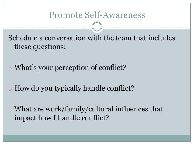 methods of addressing conflict within a team