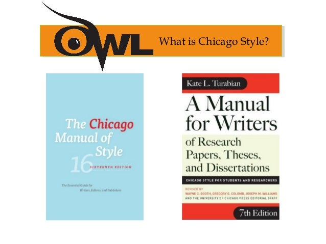 chicago manual style research papers Modification of chicago style is known as turabian style, which is geared more   online (use 16th edition) manual for writers of research papers, theses, and.