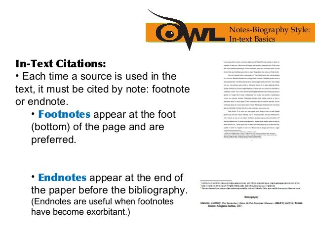 chicago style citations footnotes Chicago/turabian basics: footnotes why we use footnotes the style of chicago/turabian we use requires footnotes rather than in-text or parenthetical citations.