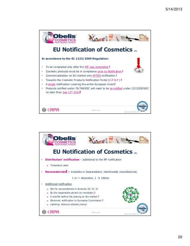 Eu cosmetics products notification portal