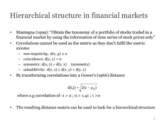 Hierarchical structure in financial markets                                              3