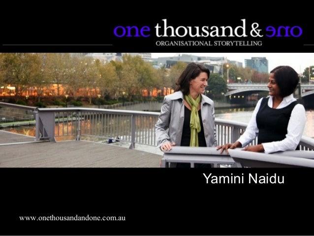 Yamini Naiduwww.onethousandandone.com.au