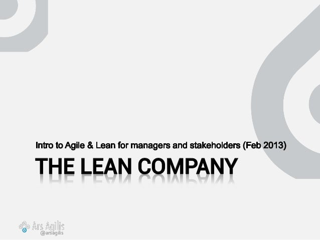 THE LEAN COMPANY@arsagilis
