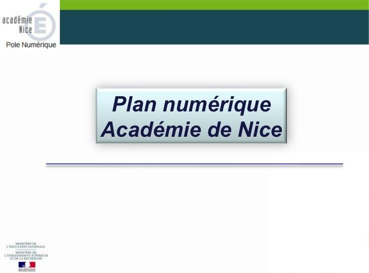 Plan numériqueAcadémie de Nice