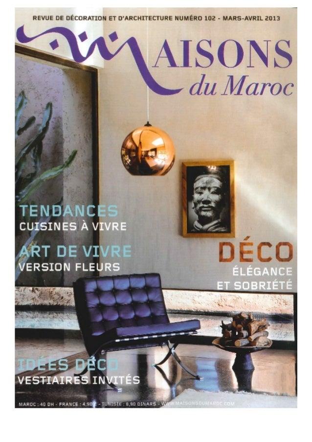 Maisons Du Maroc - Mars 2013