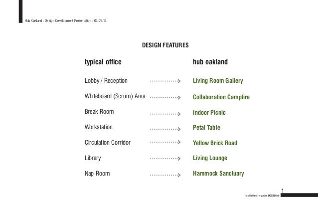 Hub Oakland : Design Development Presentation : 03.01.13                                                               DES...