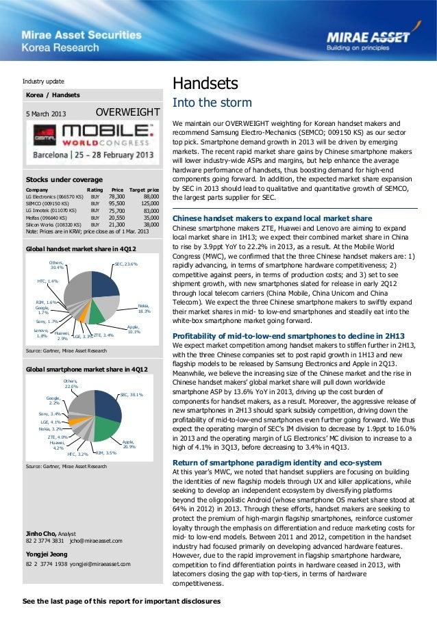 Industry update                                                                  Handsets Korea / Handsets                ...