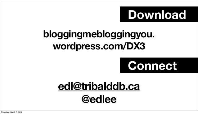 Download                          bloggingmebloggingyou.                            wordpress.com/DX3                     ...