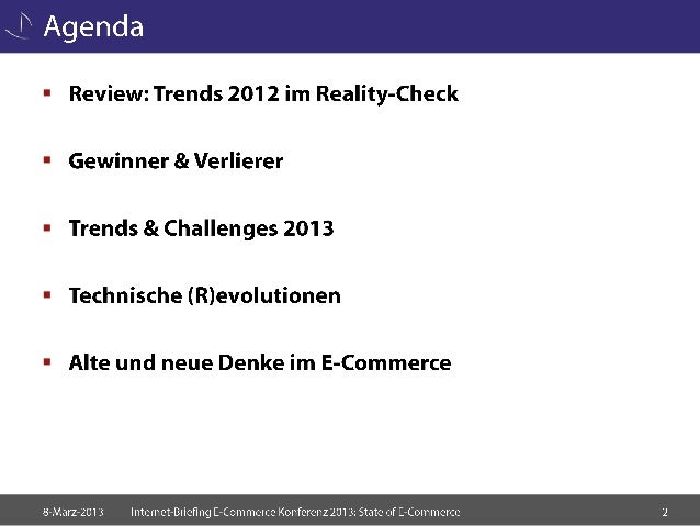 State of E-Commerce 2013 Slide 2