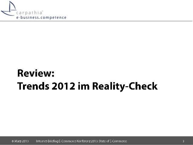 State of E-Commerce 2013 Slide 3