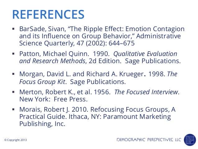 Barsade 2002 ripple effect co