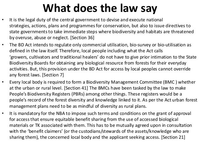 What does the law say•   It is the legal duty of the central government to devise and execute national    strategies, acti...