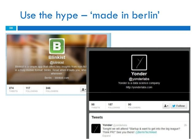 Use the hype – 'made in berlin'28