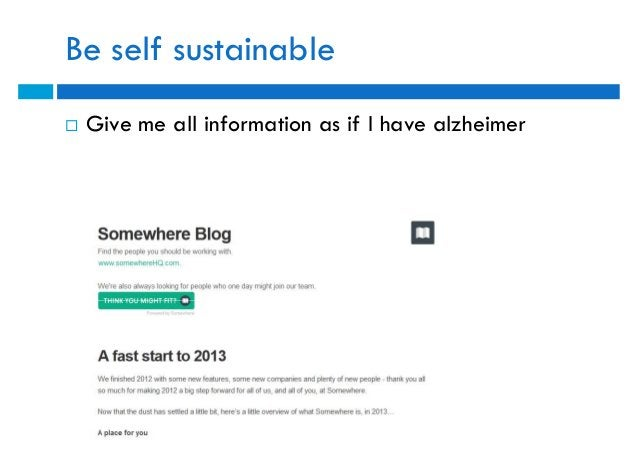 Be self sustainable   Give me all information as if I have alzheimer
