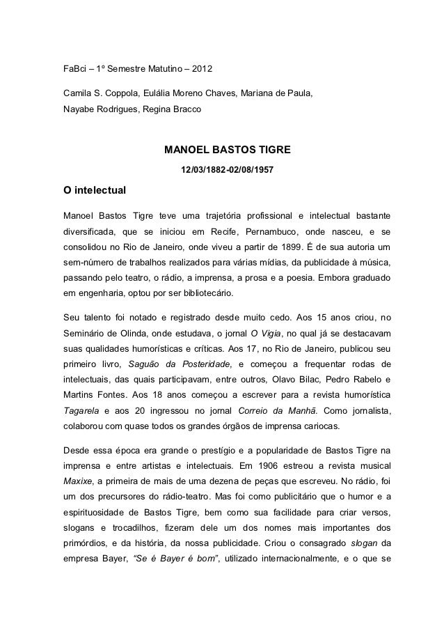 FaBci – 1º Semestre Matutino – 2012Camila S. Coppola, Eulália Moreno Chaves, Mariana de Paula,Nayabe Rodrigues, Regina Bra...