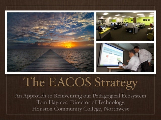 The EACOS StrategyAn Approach to Reinventing our Pedagogical Ecosystem       Tom Haymes, Director of Technology,      Hous...
