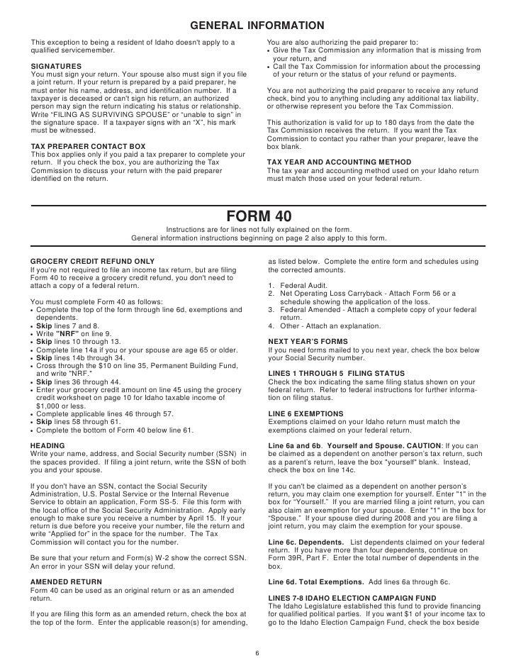 Idaho Form 40 Timiznceptzmusic