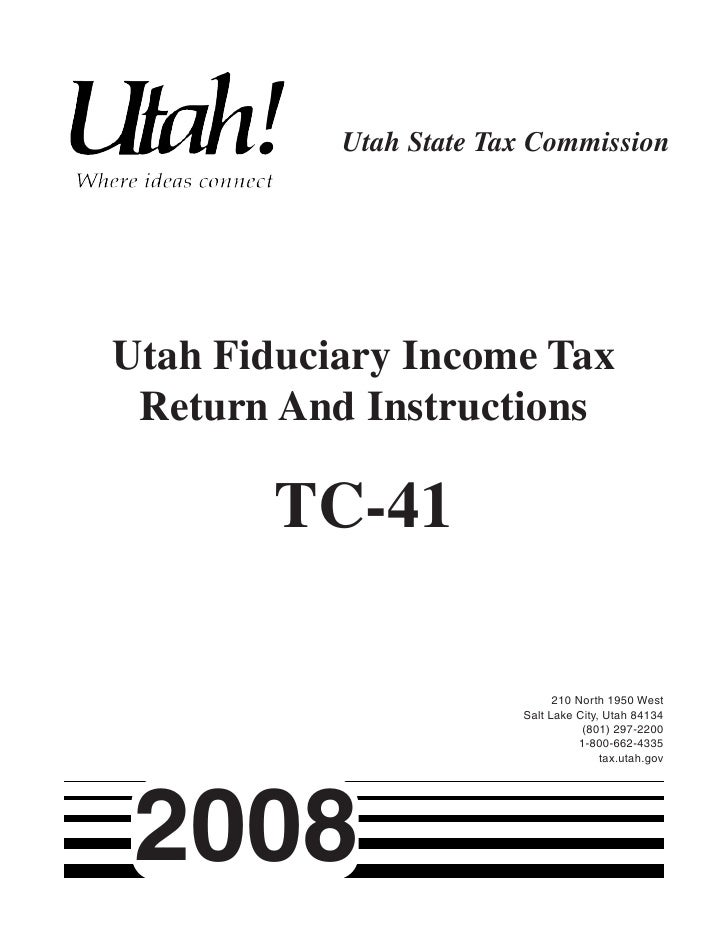 Taxutah Forms Current Tc Tc 41inst