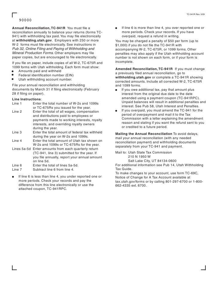 tax.utah.gov forms current tc tc-941r