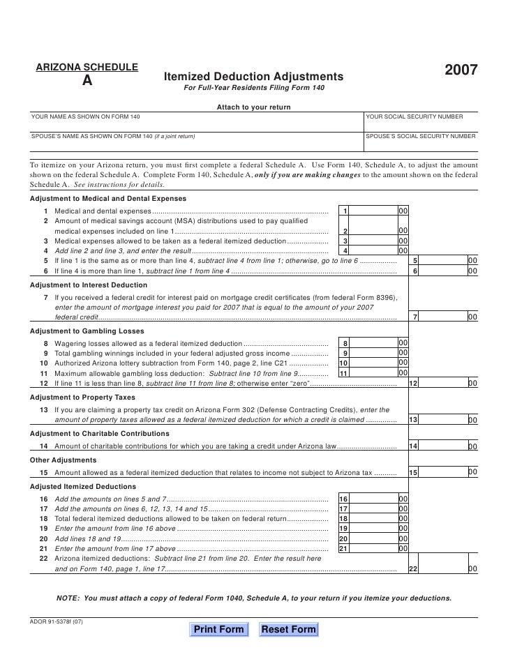 Azdor Forms 140 Schedaf