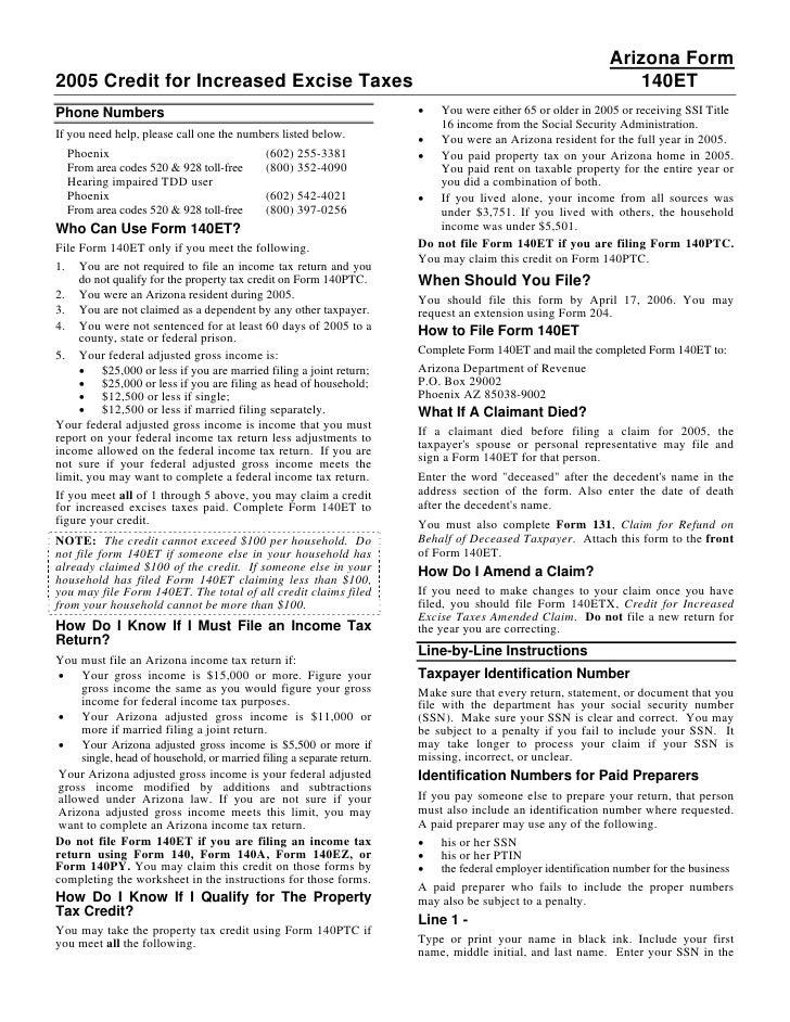 Azdor Forms 140et20instructions