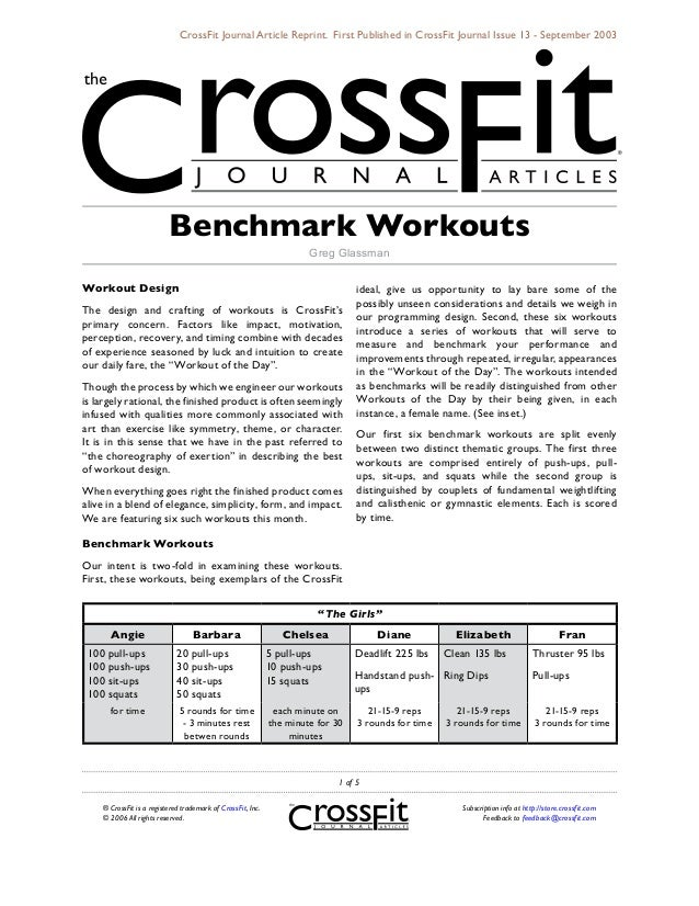 CrossFit Journal Article Reprint. First Published in CrossFit Journal Issue 13 - September 2003                          B...